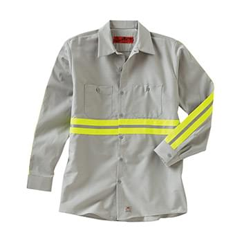 Industrial Enhanced-Visibility Long Sleeve Work Shirt