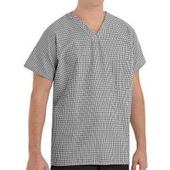 Checked V-Neck Chef Shirt