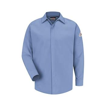 Concealed-Gripper Pocketless Work Shirt Long Sizes