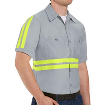 Enhanced Visibility Industrial Work Shirt Long Sizes