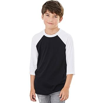 Youth Three-Quarter Sleeve Baseball Tee