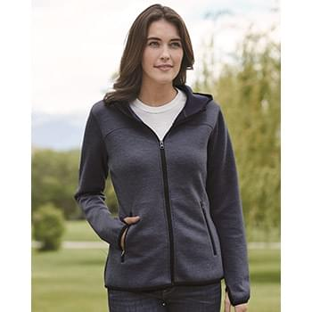 Heat Last Women's Fleece Tech Hooded Full-Zip Sweatshirt