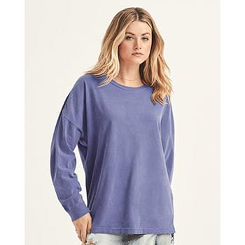 Ringspun Cotton Drop Shoulder Long Sleeve Tee