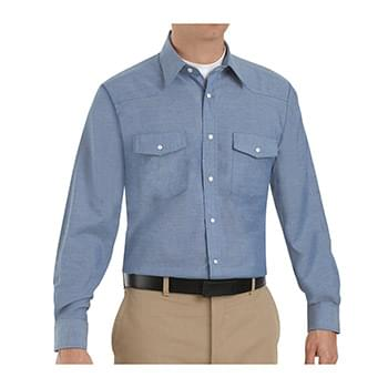 Deluxe Western Style Long Sleeve Shirt Long Sizes