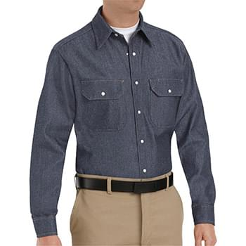 Deluxe Denim Long Sleeve Shirt Long Sizes