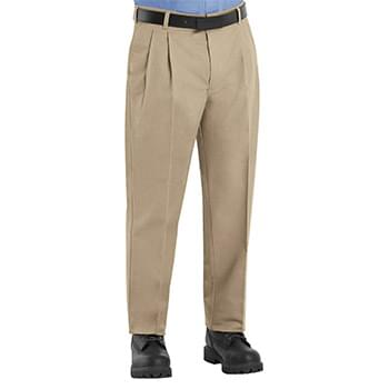 Pleated Twill Slacks - Odd & Extended Sizes