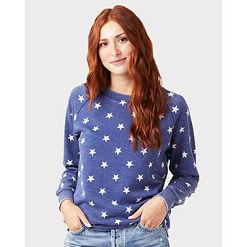 Women's Lazy Day Burnout French Terry Crewneck Sweatshirt