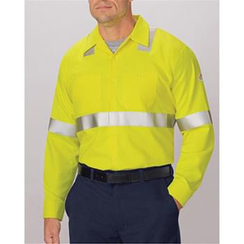 High Visibility Long Sleeve Work Shirt Long Sizes