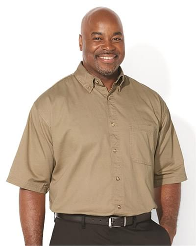 Short Sleeve Cotton Twill Shirt Tall Sizes