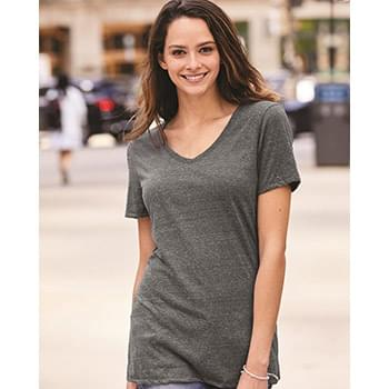 Women's Snow Heather Jersey V-Neck