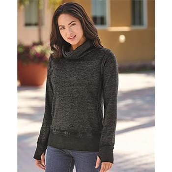 Vintage Zen Fleece Women's Cowl Neck Sweatshirt