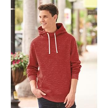 Melange Fleece Hooded Pullover Sweatshirt