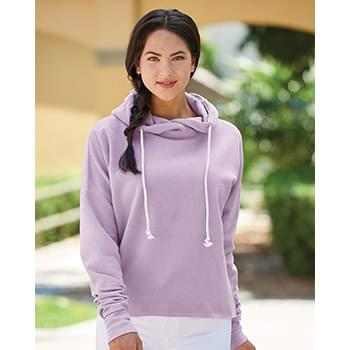 Women's Lounge Fleece Hi-Low Hooded Pullover