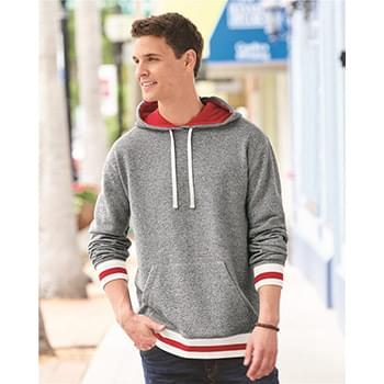 Peppered Fleece Lapover Hooded Pullover