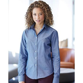 Women's Chambray Spread Collar Shirt