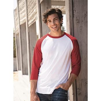 Premium Blend Ringspun Three-Quarter Sleeve Raglan Baseball T-Shirt