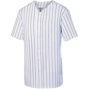 Youth Pinstripe Full Button Baseball Jersey