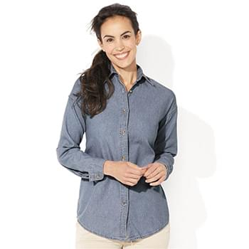 Women's Long Sleeve Denim Shirt
