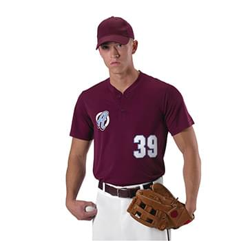 Baseball Two Button Henley Jersey