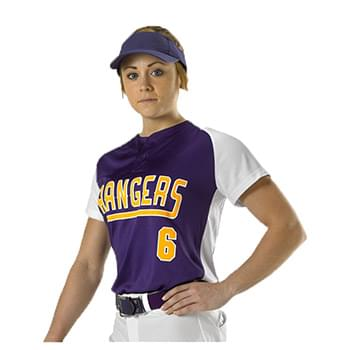 Women's Two Button Fastpitch Jersey