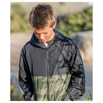 Youth Lightweight Windbreaker Zip Jacket