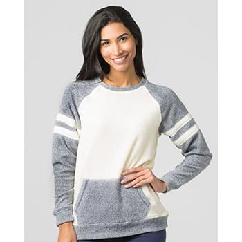 Women's Cozy Contrast Fleece Pullover