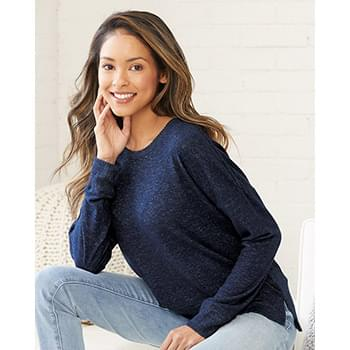 Women's Cuddle Fleece Boxy Crewneck Sweatshirt
