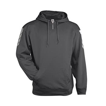 Metallic Fleece Hooded Swestshirt