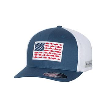 PFG Fish Flag Mesh Flexfit Ball Cap
