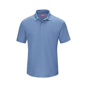 Short Sleeve Performance Knit Gripper-Front Polo