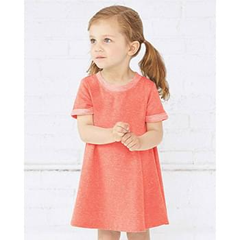 Toddler Harborside Mélange French Terry Twirl Dress