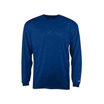 Line Embossed Long Sleeve T-Shirt