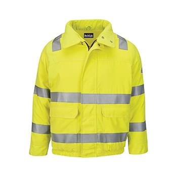 Hi-Visibility Lined Bomber Jacket with Reflective Trim - CoolTouch®2
