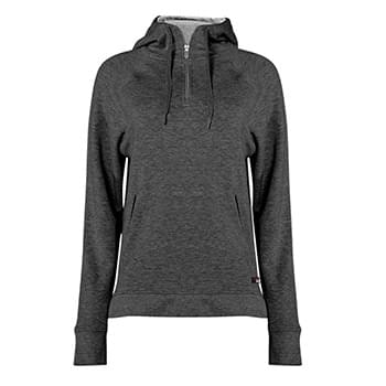 FitFlex Women's French Terry Hooded Quarter-Zip