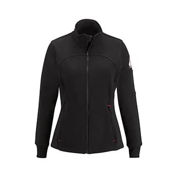 Women's Zip Front Fleece Jacket-Cotton/Spandex Blend