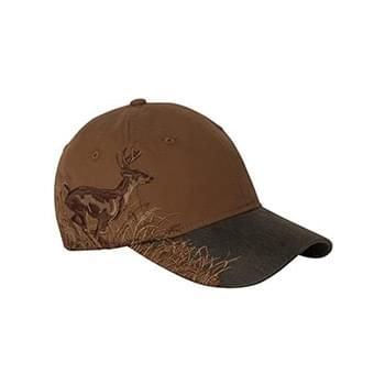 Brown Running Buck Cap