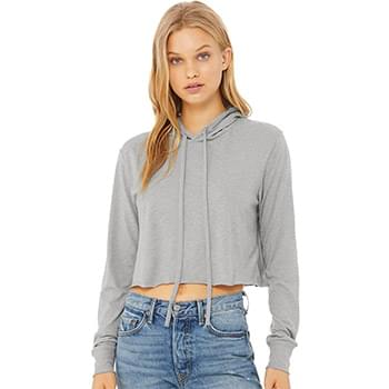 Fast Fashion Women's Triblend Cropped Long Sleeve Hoodie