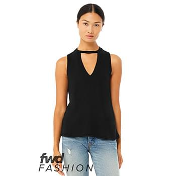 Fast Fashion Women's Flowy Cut Neck Tank