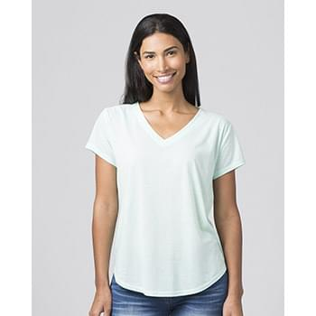 Women's Snow Heather V-Neck T-Shirt