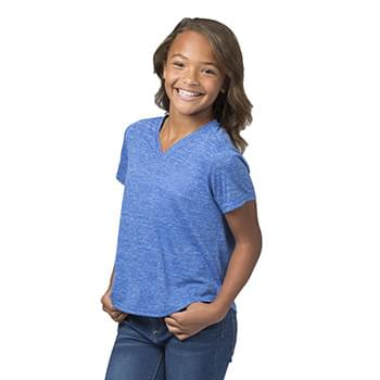 Girls' Snow Heather V-Neck T-Shirt