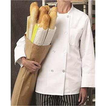 Eight Pearl Button Chef Coat Long Sizes