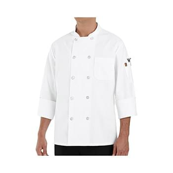 100% Polyester Ten Pearl Button Chef Coat Long Sizes