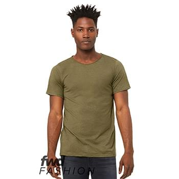 Fast Fashion Unisex Triblend Raw Neck Tee