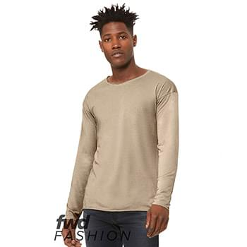 Fast Fashion Unisex Triblend Raw Neck Long Sleeve Tee