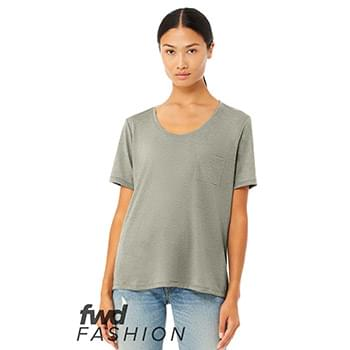 Fast Fashion Women's Flowy Pocket Tee