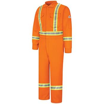 Premium Coverall with CSA Compliant Reflective Trim - EXCEL FR® ComforTouch® - Long Sizes