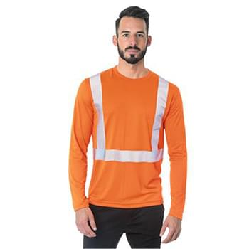 USA-Made Hi-Visibility Long Sleeve Performance T-Shirt - Segmented Tape
