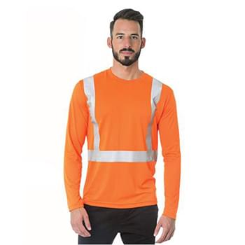 USA-Made Hi-Visibility Long Sleeve Performance T-Shirt - Solid Tape