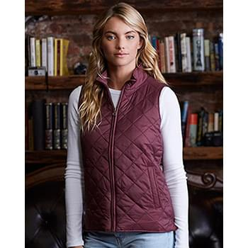 Women's Vintage Diamond Quilted Vest