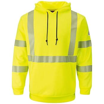 Hi-Visibility Pullover Hooded Fleece Sweatshirt - Long Sizes